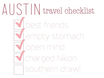 austin travel checklist