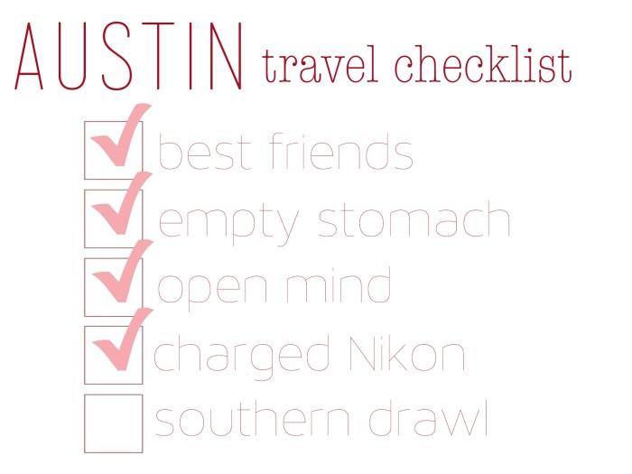 austin travel checklist